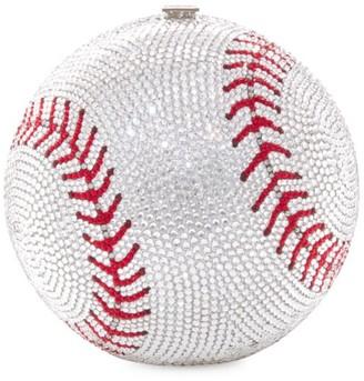 Judith Leiber Baseball Crystal Clutch