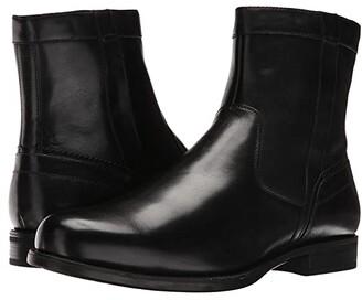 Florsheim Midtown Plain Toe Zip Boot (Black Smooth) Men's Dress Zip Boots