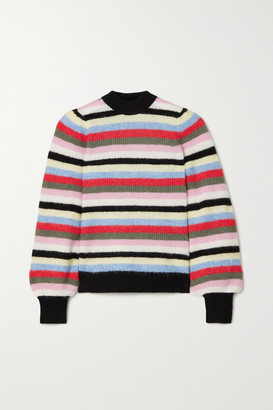 Ganni Striped Knitted Sweater - Pink