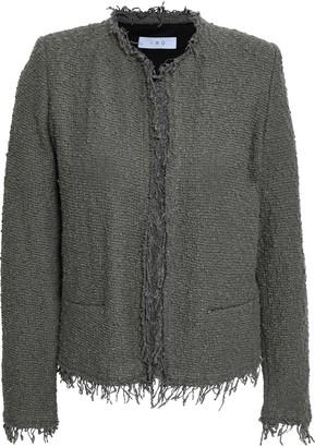 IRO Shavni Frayed Cotton-blend Boucle Jacket