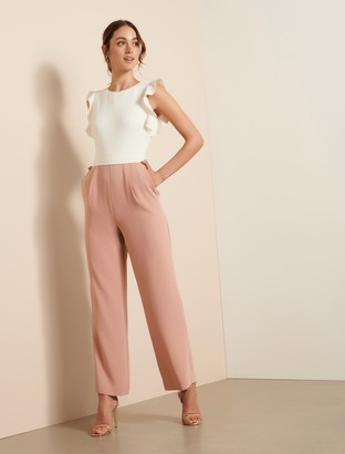 Ever New Leonie Frill Sleeve Jumpsuit