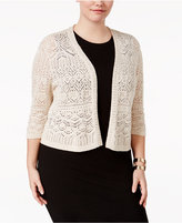JM Collection Plus Size Crochet Shrug, Only at Macy's