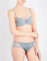 Wacoal Innocence stretch-mesh padded balcony bra