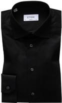 Eton Black Signature Twill Shirt - Super Slim Fit