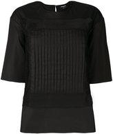Rochas sheer panel blouse - women - Cotton/Spandex/Elastane - 40