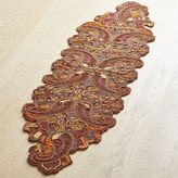 Pier 1 Imports Fall Paisley Beaded Table Runner - 54""