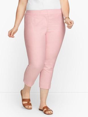 Talbots Plus Exclusive Chatham Crop Pants - Oxford Stripe