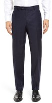 JB Britches Men's Torino Flat Front Stripe Wool Trousers