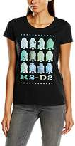 Star Wars Women's R2D2 Green Short Sleeve T-Shirt