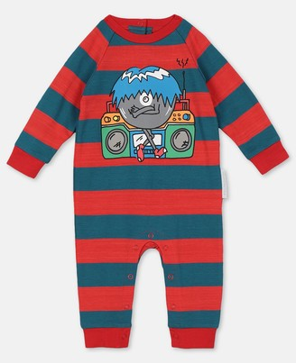 Stella Mccartney Kids Stella McCartney music monster jersey jumpsuit