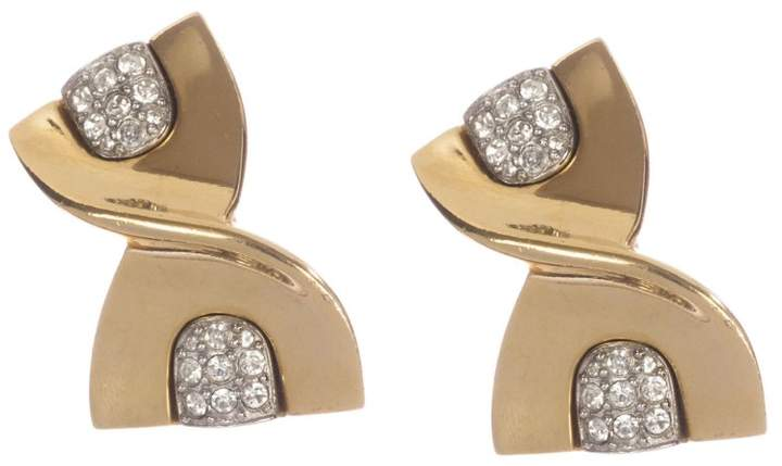 Givenchy Abstract Ribbon Rhinestone Earrings