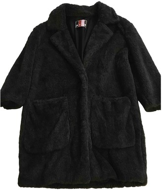 MSGM Grey Faux fur Coats