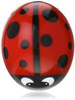 Kikkerland Ladybug Suction Cup Toothbrush Holder, Red/Black