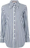 Michael Kors striped boyfriend fit shirt - women - Cotton/Polyamide/Spandex/Elastane - 2