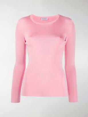 Balenciaga Blogo detail long-sleeved top