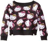 Hello Kitty Little Girls' All Over Face Sweat Shirt