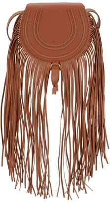 Chloé Small Marcie Fringe Leather Saddle Bag