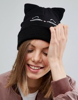 Asos Cat Embroidered Beanie