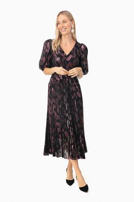 Rebecca Taylor Black Long Sleeve Jacquard Dress