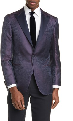 Canali Siena Classic Fit Contemporary Paisley Silk Dinner Jacket