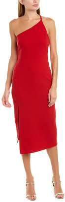 Oscar de la Renta Wool-Blend Midi Dress