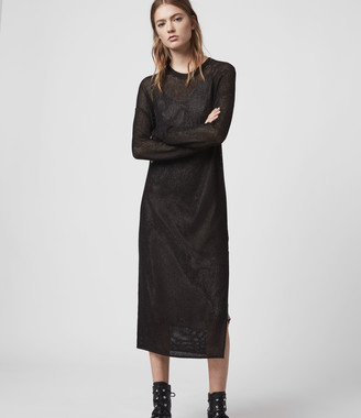 AllSaints Shine Mesh 2-in-1 Dress