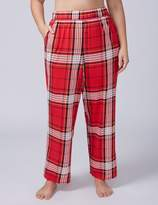Lane Bryant Red Plaid Knit Sleep Pant with Buttons
