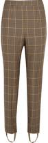 Balenciaga Houndstooth wool-tweed straight-leg pants