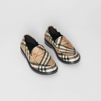 Burberry Childrens Vintage check Leather Loafers