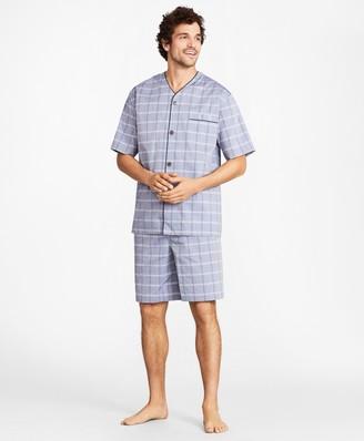 Brooks Brothers Plaid Short Pajamas