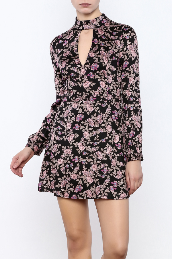 Honey Punch Floral Print Dress