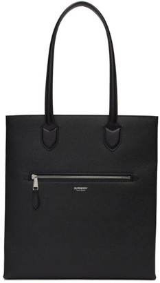 Burberry Black Medium Grainy Leather Tote