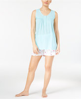 Charter Club Tank Top And Boxer Shorts Mix-It Pajama Set, Only at Macy's