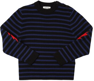 Zadig & Voltaire Striped Wool Blend Knit Sweater