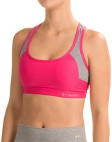 Columbia Omni-Wick® Color-Block Strappy Sports Bra - Removable Cups, High Impact (For Women)