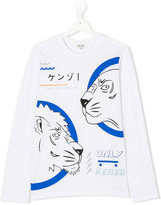 Kenzo Teen lion print T-shirt - kids - Cotton - 14 yrs