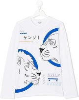 Kenzo Teen lion print T-shirt