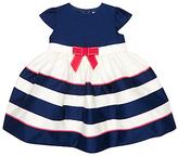 John Lewis Nautical Stripe Short Sleeve Dress, Blue/White