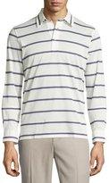Brioni Long-Sleeve Striped Shirt, Lilac