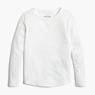 J.Crew Girls' long-sleeve tee with shirttail hem