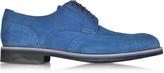 a. testoni A.Testoni Oltremare Suede Derby Shoe