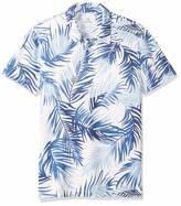 Amazon Brand - 28 Palms Men's Standard-Fit Performance Cotton Tropical Print Pique Golf Polo Shirt