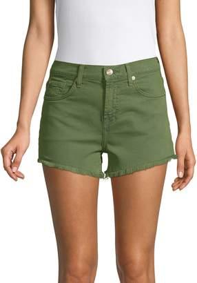 7 For All Mankind High Waist Frayed Hem Vintage Shorts