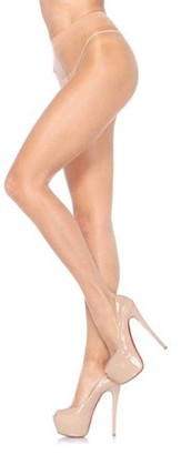 Leg Avenue Women's Sheer Waist Support Pantyhose, Honey Beige, One Size