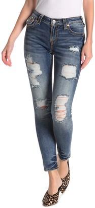 True Religion Jennie Big T Distressed Curvy Skinny Jeans
