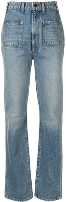 KHAITE The Isabella straight-leg jeans