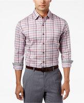 Tasso Elba Men's Sateen Plaid Shirt, Only at Macy's