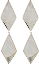Lana 14k Satin Double-Kite Mother-of-Pearl Drop Earrings