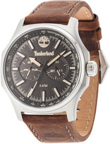 Timberland Men's Leydon Dark Brown Leather Strap Watch 46x57mm TBL14813JS02