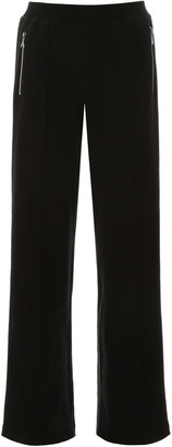 Area PALAZZO PANTS WITH CRYSTALS M Black Cotton